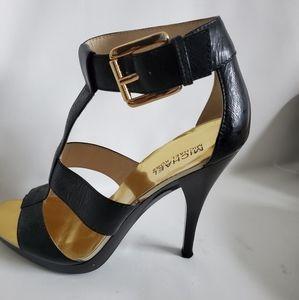 Michael Kors Black Ankle strap ladies shoes